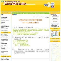 la Circonscription de St Marcellin - Education Physique Sportive et Artistique - Langage et motricité C1