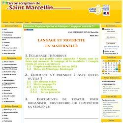 la Circonscription de St Marcellin - EPS - Langage et motricité C1