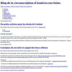 Blog de la circonscription d'Asnières-sur-Seine