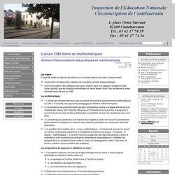 Liaison CM2-6ème en mathématiques - CIRCONSCRIPTION DE CASTELSARRASIN