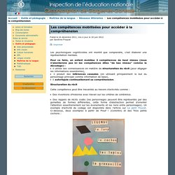 Circonscription de Garges-lès-Gonesse - Inspection de l'éducation nationale du Val-d'Oise - Les compétences mobilisées pour accéder à la compréhension