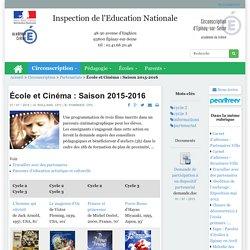 École et Cinéma : Saison 2015-2016