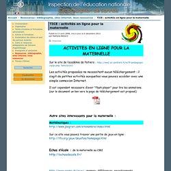 TICE: activités en ligne pour la maternelle