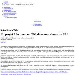 Circonscription d'Ermont-Eaubonne - Inspection de l'éducation nationale du Val-d'Oise - Un projet à la une: un TNI dans une classe de CP!