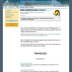 TICE: activités en ligne: Français