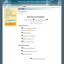 Ppre aide personnalis e ppre pearltrees - Office education nationale ...