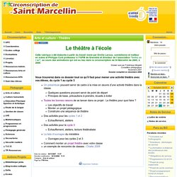 la Circonscription de St Marcellin - Arts et culture - Théâtre