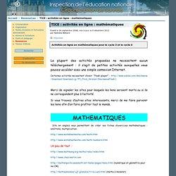 TICE: activités en ligne: mathématiques