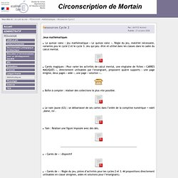 ..: Site de la circonscription de Mortain [Ressources Cycle 2] :..