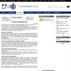 Circonscription de Eu - Concours d'orthographe