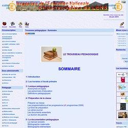 le site de la circonscription de Lens - Trousseau pédagogique - Sommaire