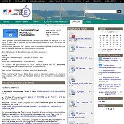 Circonscription d'Yvetot - Programmations (nouveaux programmes)