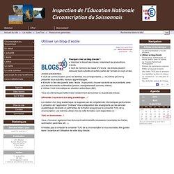Utiliser un blog d'école - Circonscription du Soissonnais