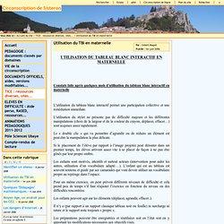 Circonscription de Sisteron - Utilisation du TBI en maternelle