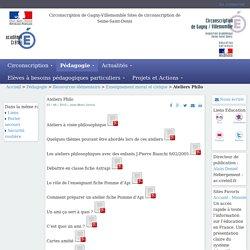 Circonscription de Gagny-Villemomble - Ateliers Philo