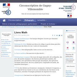 Circonscription de Gagny-Villemomble - Liens Math