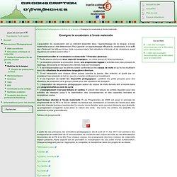 ..: Site de la circonscription d'Avranches [Enseigner le vocabulaire à l'école maternelle] :..