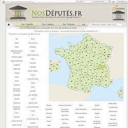 Toutes les circonscriptions électorales par département - NosDéputés