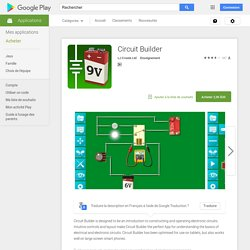 Circuit Builder – Applications Android sur GooglePlay