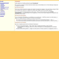Circuit du document : inventaire