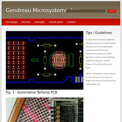 LED circuit board routing - Gendreau Microsystems, Inc.