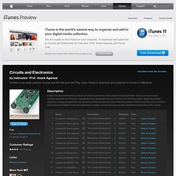 Circuits and Electronics - Download free content from MIT on iTunes