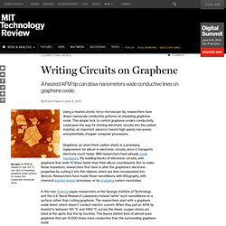 Writing Circuits on Graphene