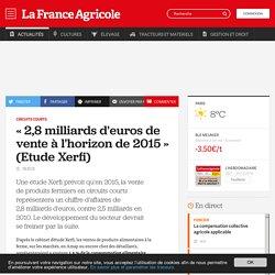 Circuits courts : «2,8milliards d'euros de vente à l'horizon de 2015» (Etude Xerfi)