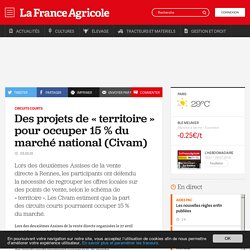FRANCE AGRICOLE 03/05/10 Circuits courts - Des projets de « territoire » pour occuper 15 % du marché national (Civam)