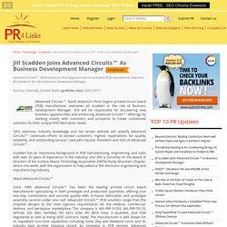 Jill Scadden Joins Advanced Circuits™ As Business Development Manager