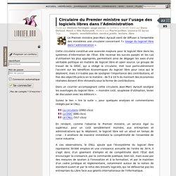 Circulaire du Premierministre sur l'usage des logiciels libres dans l'Administration