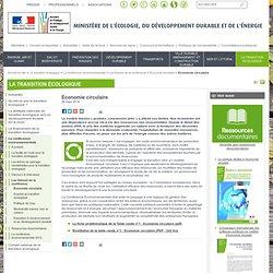 Economie circulaire ministère de l'écologie