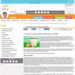 L'économie circulaire, modèle économique d'avenir - APCE, agence pour la création d'entreprises