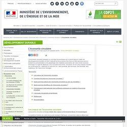 L'économie circulaire - Ministère de l'Environnement, de l'Energie et de la Mer