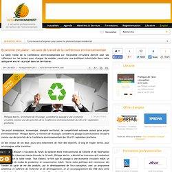 Economie circulaire : les axes de travail de la conférence environnementale