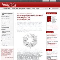 Économie circulaire : le potentiel sous-exploité du remanufacturing