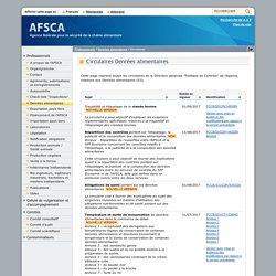 AFSCA 12/01/16 Circulaire : Température et durée de conservation de denrées alimentaires dans le commerce de détail
