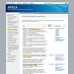 """AFSCA 19/05/16 Circulaire Circulaire """"Denrées alimentaires"""" Denrées alimentaires congelées, surgelées ou décongelées"""