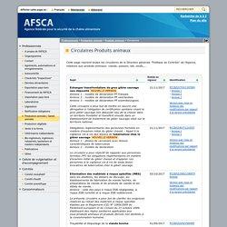 """AFSCA 01/04/16 Circulaire """"Produits animaux"""" - Critères microbiologiques applicables aux carcasses d'ongulés domestiques + annexes"""