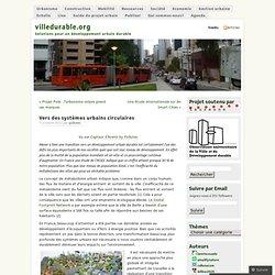 Vers des systèmes urbains circulaires