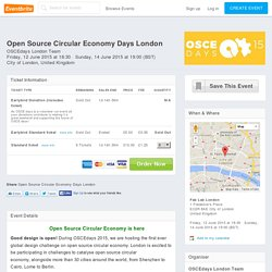 Open Source Circular Economy Days London Tickets, City of London
