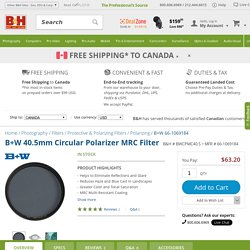 B+W 40.5mm Circular Polarizer MRC Filter 66-1069184 B&H Photo