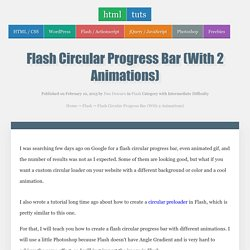 Flash Circular Progress Bar (With 2 Animations)