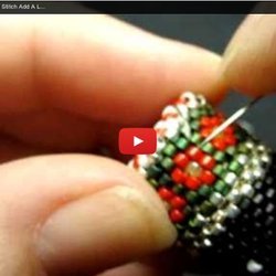 How To Bead Flat Circular Peyote Stitch Add A Lid Snowman Needle Case by Beth Murr