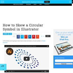 How to Skew a Circular Symbol in Adobe Illustrator