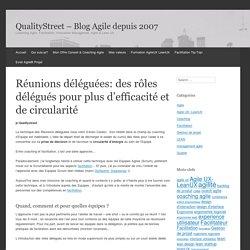 Réunions déléguées: des rôles délégués pour plus d'efficacité et de circularité