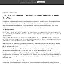 Cash Circulation – a Challenge for the Elderly in Post Covid