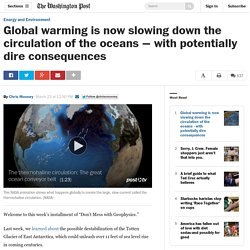 Global warming is now slowing down the circulation of the oceans — with potentially dire consequences