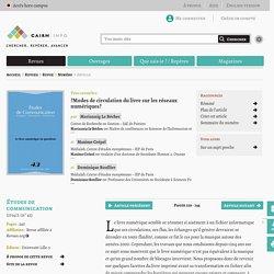 Document 8 web : Modes de circulation du livre sur les réseaux numériques