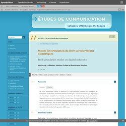 Modes de circulation du livre sur les réseaux numériques